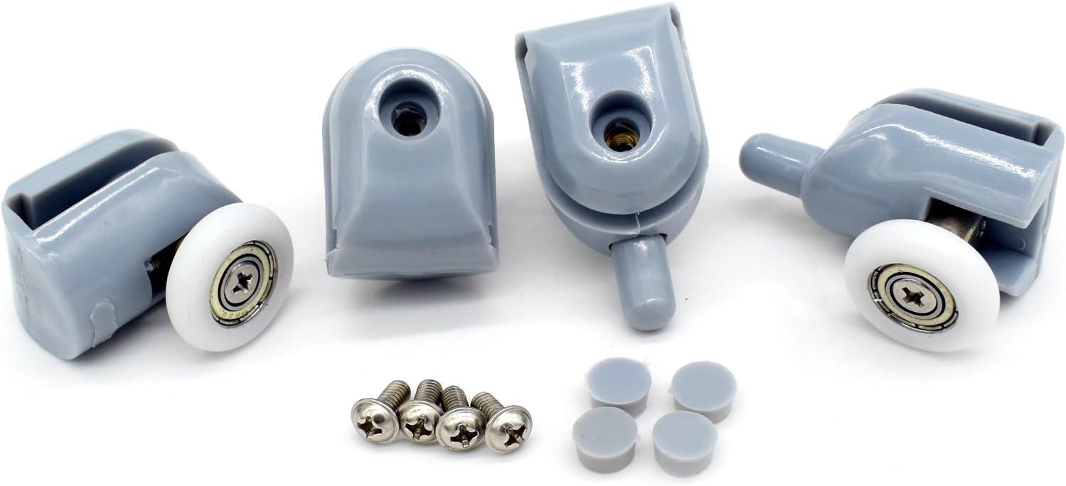 Polea para mampara de ducha, 4 piezas superiores y 4 piezas ...