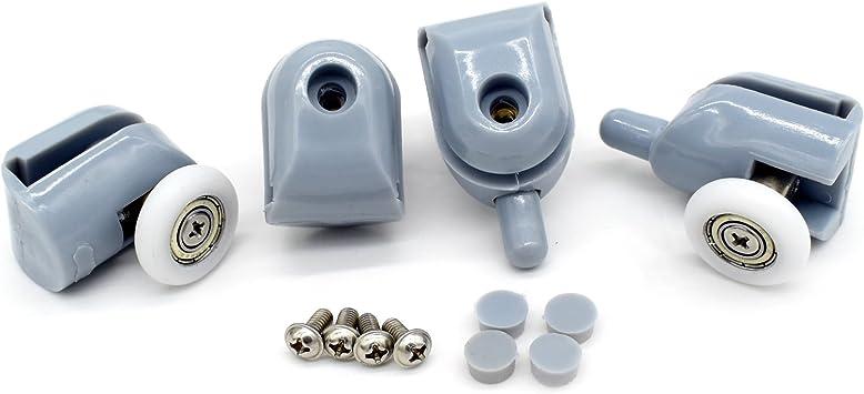 8 pcs rieles para mampara de ducha ducha puerta rodillos 20 mm: Amazon.es: Bricolaje y herramientas