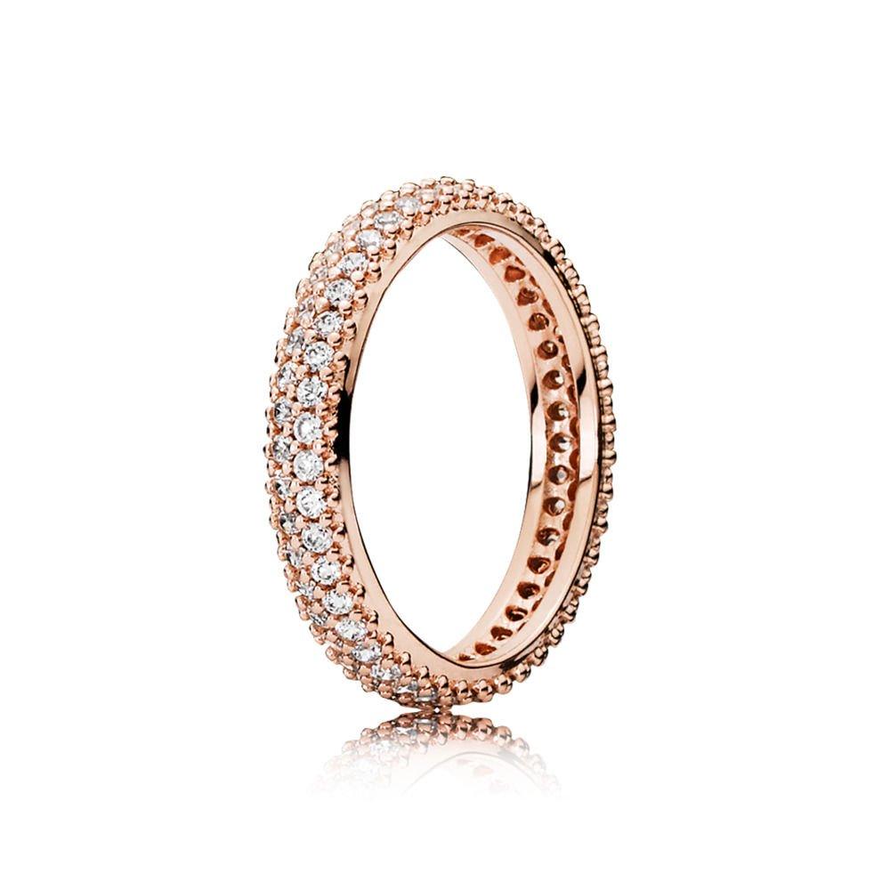 71ae546b4 Amazon.com: Pandora Inspiration Within, Pandora Rose, Clear CZ 180909CZ-54  7 US, 54 Euro: Jewelry