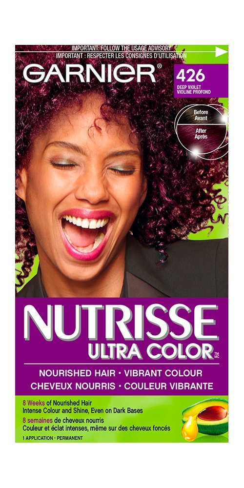 Garnier Nutrisse Ultra Color in 500 Medium Brown. Vibrant Hair Dye for Dark Hair, with Natural Conditioning Oils