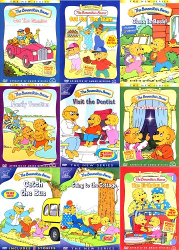 The Berenstain Bears (9 Pack) Out for The Team / Class is Back! / Family Vacation / Visit the Dentist / The Wishing Star / Catch the Bus / Going to the Cottage / The Birthday Boy