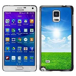 PC/Aluminum Funda Carcasa protectora para Samsung Galaxy Note 4 SM-N910F SM-N910K SM-N910C SM-N910W8 SM-N910U SM-N910 Nature Field Sunshine / JUSTGO PHONE PROTECTOR
