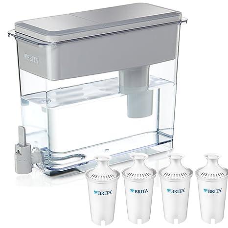 Sin BPA taza de gris 18 de Brita Ultramax dispensador de agua con 4 Reemplazo avanzado