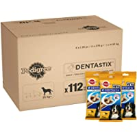 Pedigree Dentastix - Daily Dental Care Chews, Large Dog Treats from 25 kg+, 1 Box (1 x 4.32 kg/Total of 112 Sticks)