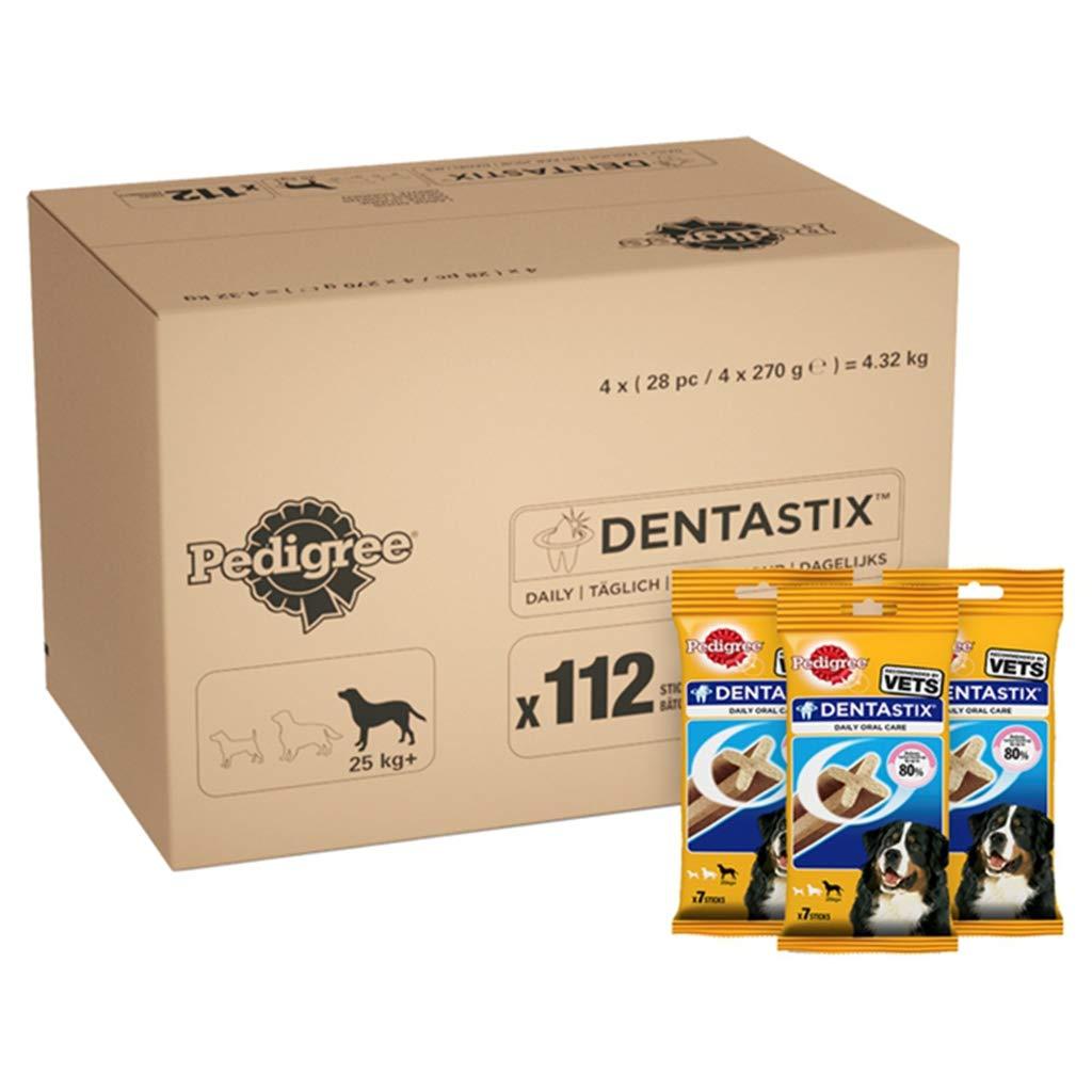 Pedigree DentaStix Daily Dental Chews for Large Dogs 25 kg+, 28 Sticks, 4 x  270 g (Pack of 4)  Amazon.co.uk  Pet Supplies 84cff89731