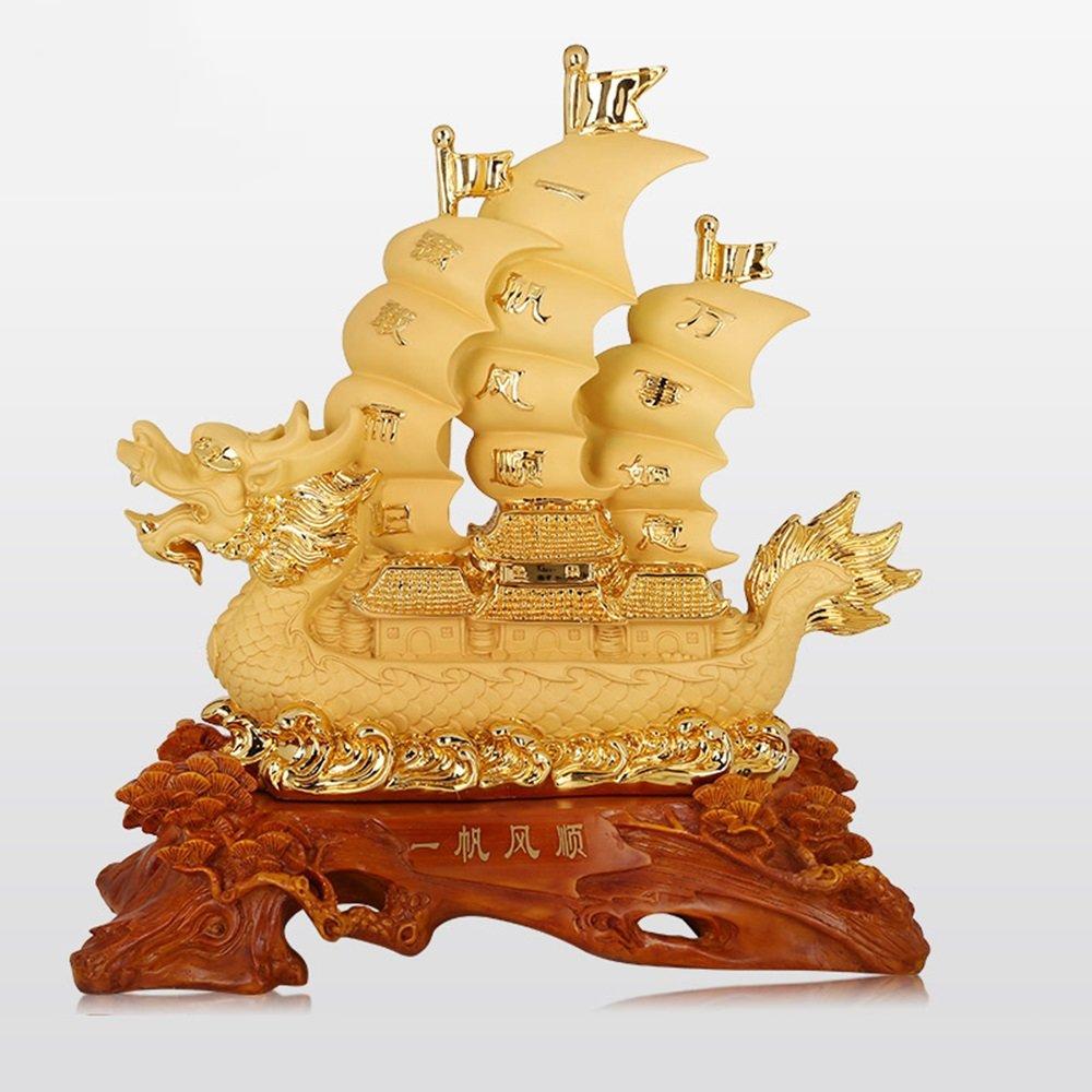 Yifan Fengshun Decoración Dragon Ceremonia de Apertura del Barco de la decoración de la Mesa de Oficina (Color : B, Tamaño : 56  24  60cm)