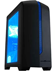 Game Factor CSG500AZUL Gabinete, Color Negro