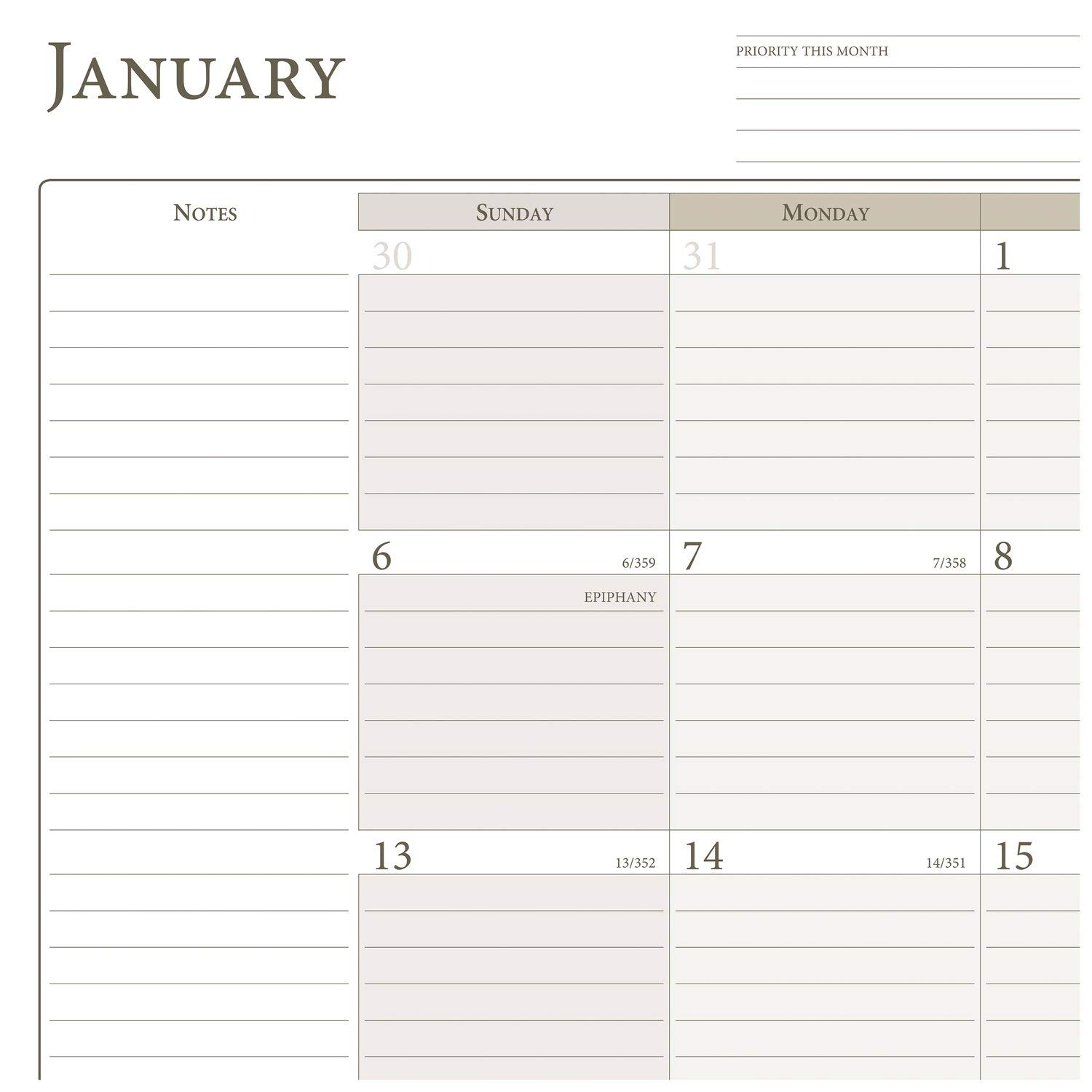 Nature 5-1//2 x 8-1//2 December 2019 Size 4 061-685 Loose Leaf AT-A-GLANCE Day Runner Monthly Planner Refill January 2019