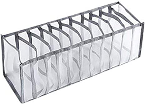 jskjlkl2019 Houseware Foldable Durable Divider Storage Box Case Container for Bra Underwear Sock 7 Grids
