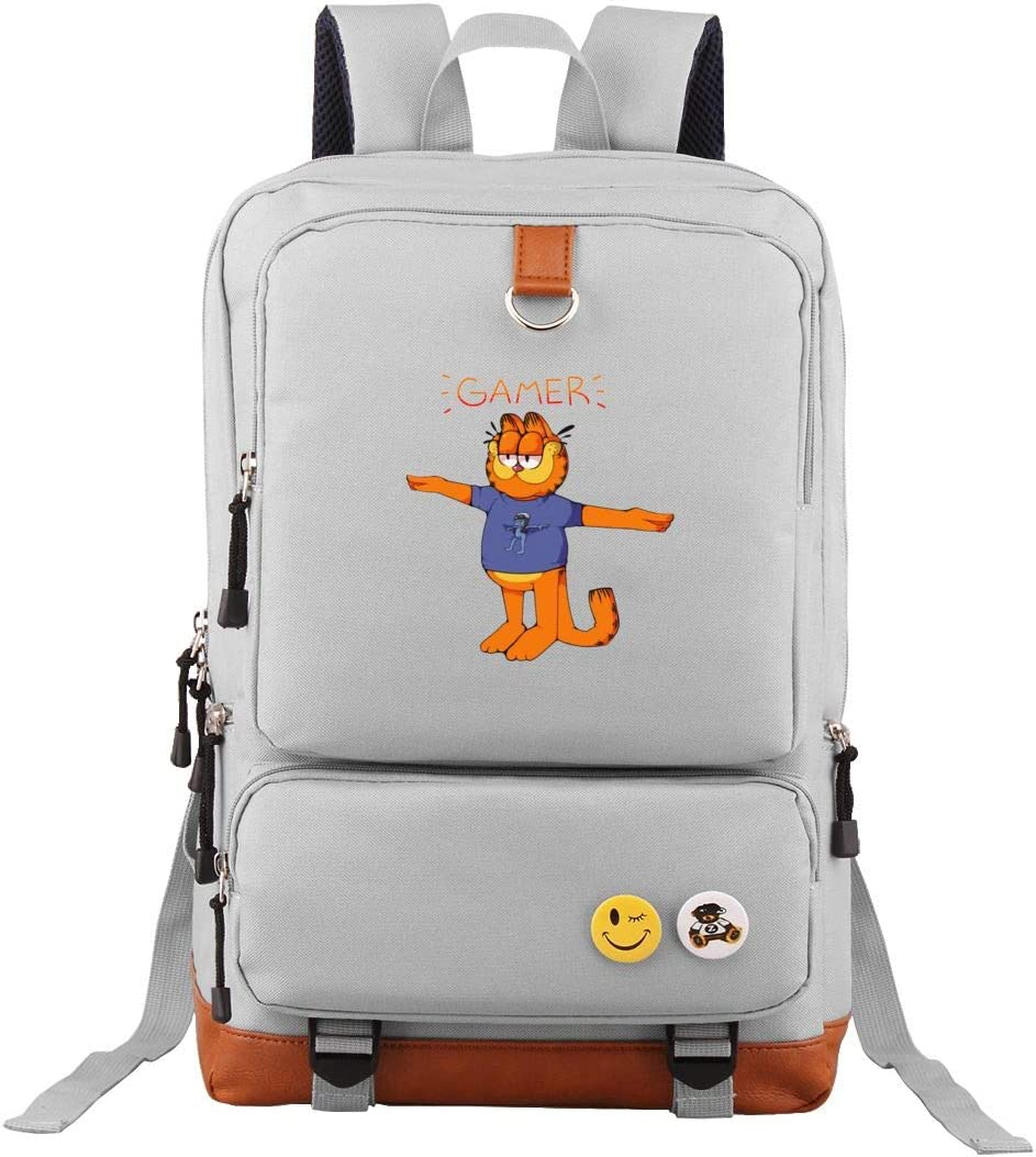 Lightweight Gamer Garfield Crazy Frog T Pose Backpack Classic Basic Oxford Shoulder Bag Casual Daypack For Travel Gray Amazon Ca Electronics