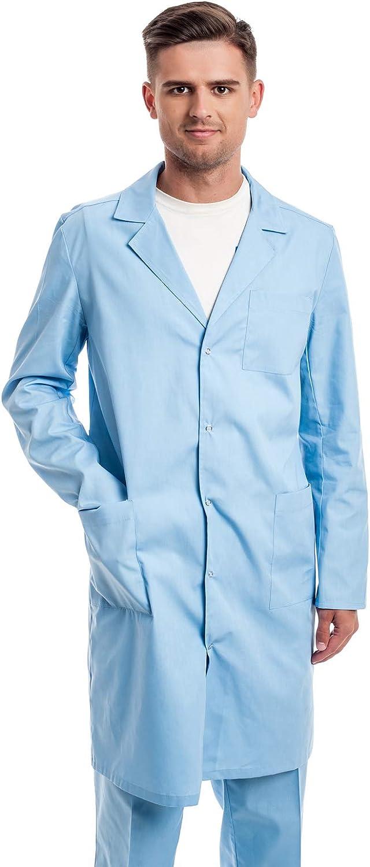 Studente per Dottori Camice da Laboratorio Scienziati XS -3XL da Uomo Cosplay Laboratorio Medico Lavoro per Ospedale Instituto Medico Camice Laboratorio per Uomo Infermiera