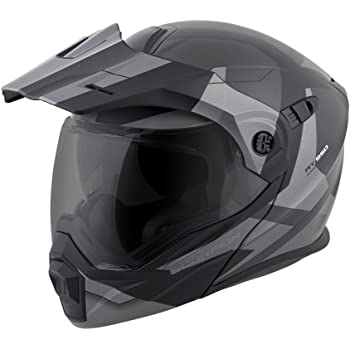 ScorpionEXO Unisex-Adult Modular/Flip Up Adventure Touring Motorcycle Helmet (Silver, XX-Large) (EXO-AT950 Neocon)