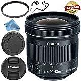 Canon EF-S 10-18mm f/4.5-5.6 IS STM Lens 9519B002 + 67mm UV Filter + Fibercloth + Lens Capkeeper Bundle