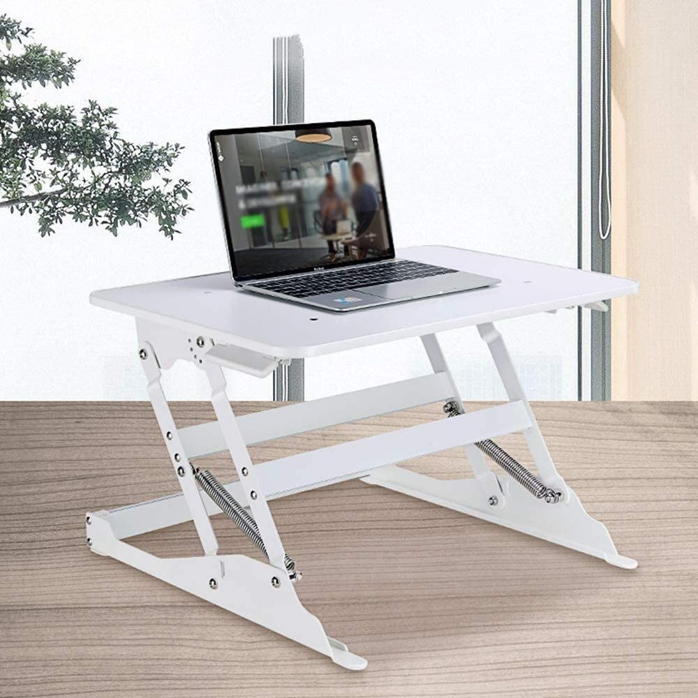 Liftable Laptop Stand 4-Gear Adjustment 15kg Load Bearing MDF//Aluminum Alloy Laptop table HLR-Laptop table Sit-Stand Conversion Desk