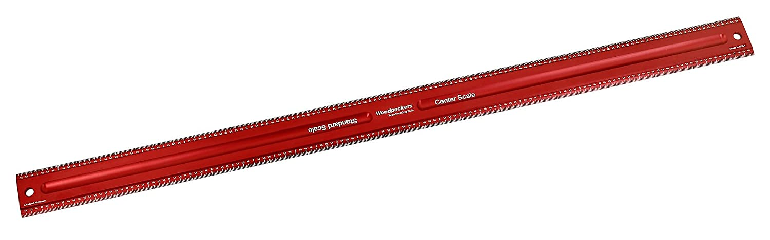 12-Inch Woodpeckers Precision Woodworking Tools WWR12 Woodworking Rule