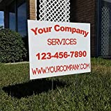Custom 12qty 18''x24'' Yard Signs + Printed Front & Back + 24'' Metal Ground Stakes