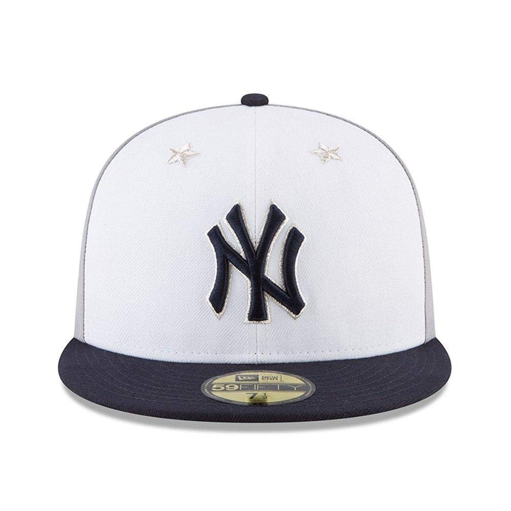 half off ba70c 53aae Amazon.com   New Era New York Yankees 2018 MLB All-Star Game On-Field  59FIFTY Fitted Hat - White Navy   Clothing