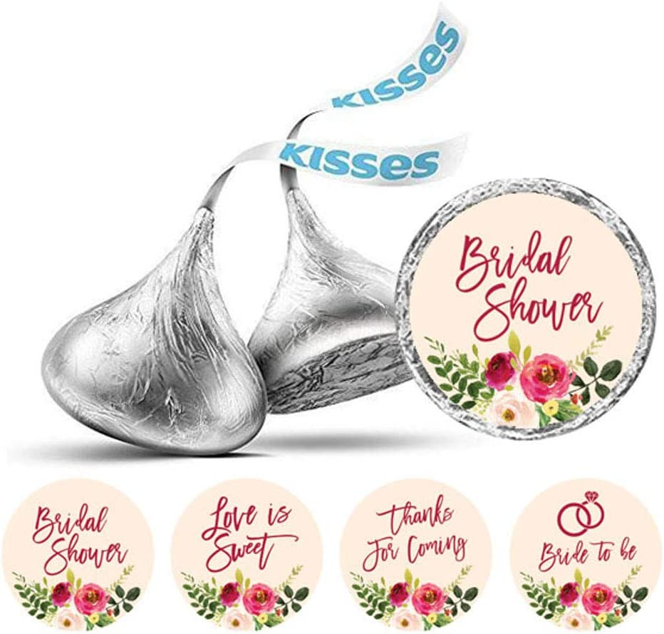 Darling Souvenir Hersheys Kisses Candy Labels Wedding Stickers Pack of 190 Pcs Party Favor-White