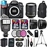 Holiday Saving Bundle for D7100 DSLR Camera + 18-105mm VR Lens + Backup Battery + Backpack + 1yr Extended Warranty + Flash + 2 Of Ultra Fast 16GB Class 10 + 0.43X Wide Angle - International Version