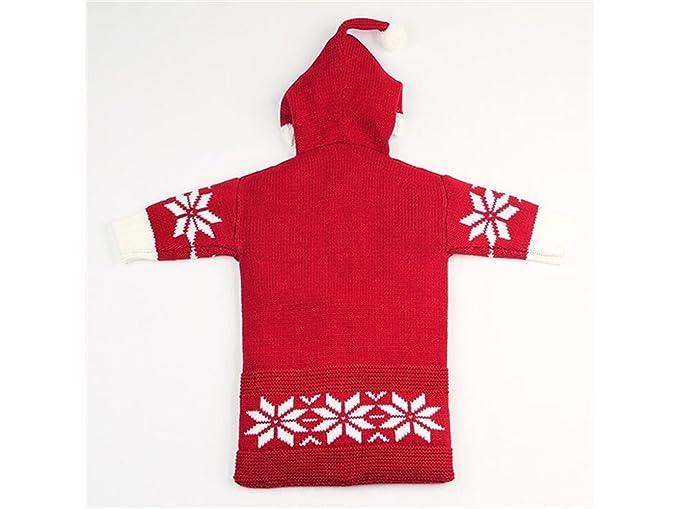 Manta Swaddle Recién nacido, niño, copo de nieve, estilo de navidad, saco de dormir, hacer punto, Sleepsacks, para, 0-6 meses, (Red) Bolsa de dormir: ...