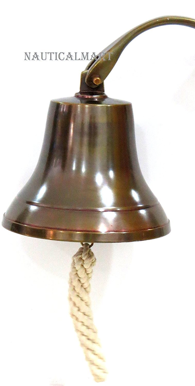 NAUTICALMART 6 Nautical Aluminum Ship Bell with Antique Finish Beautiful NAUTICALMART INC
