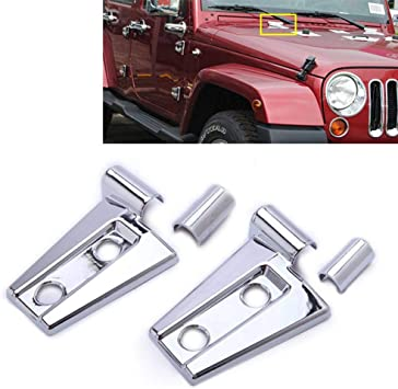 FOR 2007-2017 JEEP WRANGLER CHROME SIDE MIRROR COVER COVERS W// ARMS 2014 2013