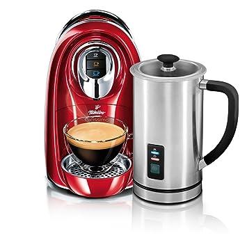 Tchibo Cafissimo Compact - Máquina de café de cápsulas (incluye vaporizador de leche eléctrico) rojo: Amazon.es: Hogar