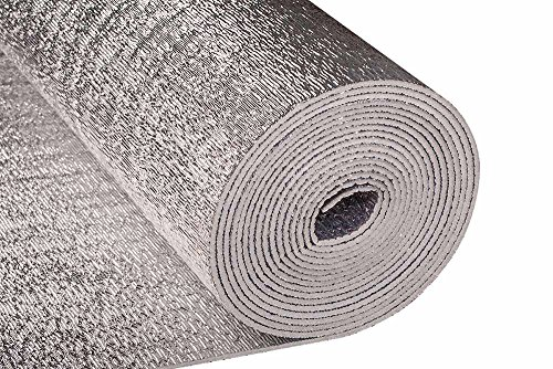Reflective Thermal Foil Foam Insulation- (4 X 50 Ft Roll) Commercial Grade, Heat Barrier Mat, for Soundproofing, Noise Insulation, Weatherproofing Roofs, Windows, Garages, RV's, More!