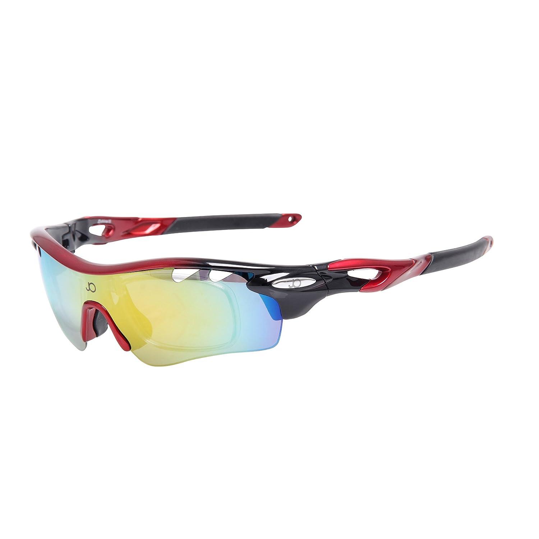 Jimmy orange Sport Fahrrad Fashion polarisierte Damen Herren Night Vision Sonnenbrille jo1896, Herren, rot / schwarz