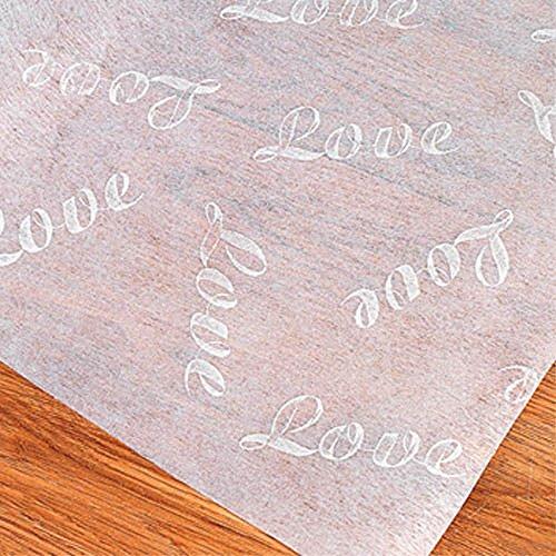 100 Ft LOVE Print Wedding AISLE RUNNER Long White Bridal ()