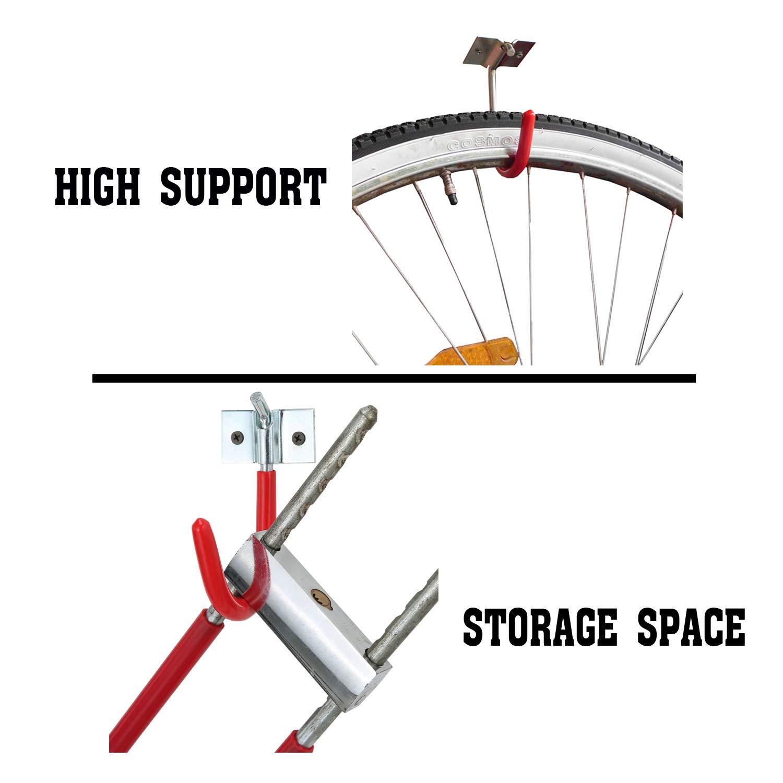 SEVGTY Heavy Duty Ceiling Mounted Garage Storage//Utility Hooks 2-Pack