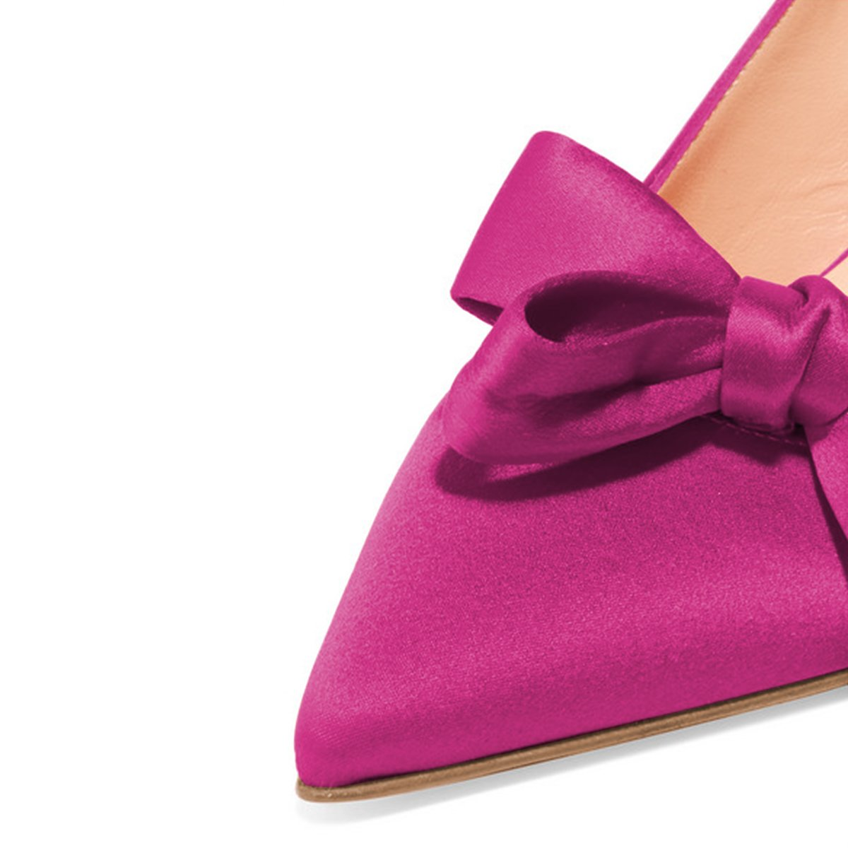 XYD Women Fashion Pointed Toe Slingback Pumps High Heel Slip On Dress Shoes with Bows B0799H9CCN 5 B(M) US|Fuchsia