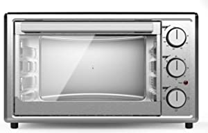 Smad Mini Compact Toaster Oven, for 6-Slice, 12'' Pizza, Bake & Toast & Broil & Warm, Convection Working Oven with Timer, 1800 W, Stainless Steel