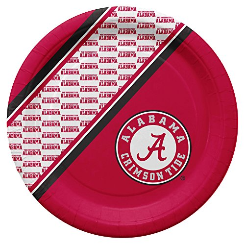 NCAA Alabama Crimson Tide Disposable Paper Plates, Pack of 20 ()