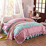 HNMKDLJFH European minimalist style quilt cover/cotton quilt cover/plants and flowers quilt cover-C 220240cm(87x94inch)
