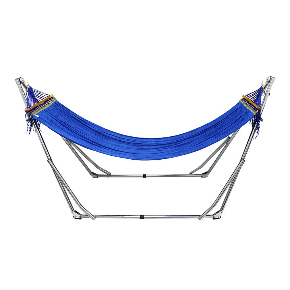 UNHO Colorful Folding Hammock with Metal Frame &Stand Weatherproof Hammock Includes Portable Carrying Case For Outdoor, Indoor and Garden Mastertrade