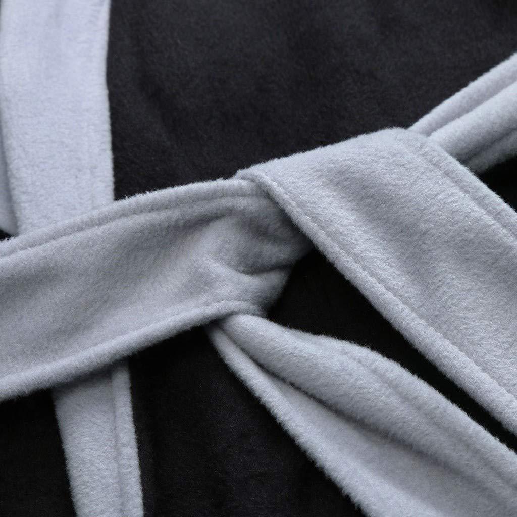 BEKUTY Peignoir de Bain Homme Robe de Chambre Homme Peluche