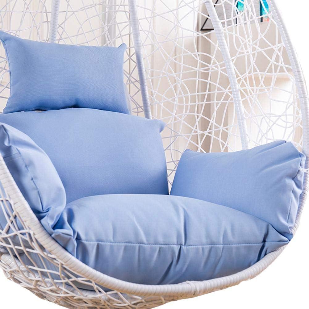 No Chiar,Only Cushion Rvest Cuscini per Sedie Sospesi Egg Cuscino per Sedia Swing Morbido Antiscivolo Cuscino per Sedia Amaca Sospeso Amovibile E Rimovibile