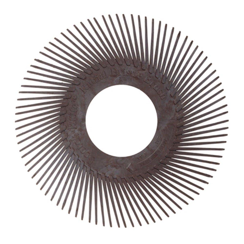3M Scotch-Brite Bristle BB-AC Typ A Reinigungsbü rste | Ø 150mm | Korn 36 | braun keine