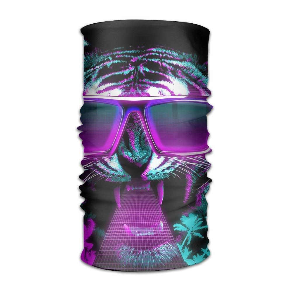 Magic Headwear Cat With Sunglasses Outdoor Scarf Headbands Bandana Mask Neck Gaiter Head Wrap Mask Sweatband