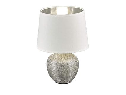 Lámpara de mesa LED clásica con base de cerámica, altura 35 ...