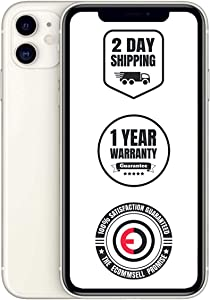 Apple iPhone 11, 128GB, Unlocked - White (Renewed)