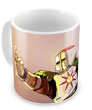 RaMedia Dark Souls Minimalistic Solaire of Astora Praising Magische Tee-Kaffeetasse