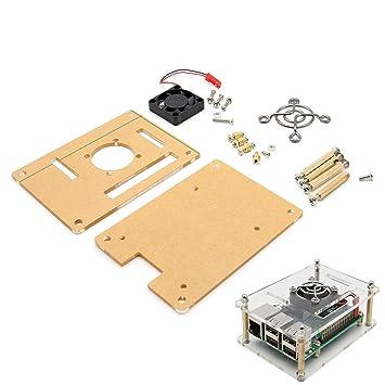 V34 - Carcasa de acrílico para Raspberry Pi 3 Modelo B / 2B ...
