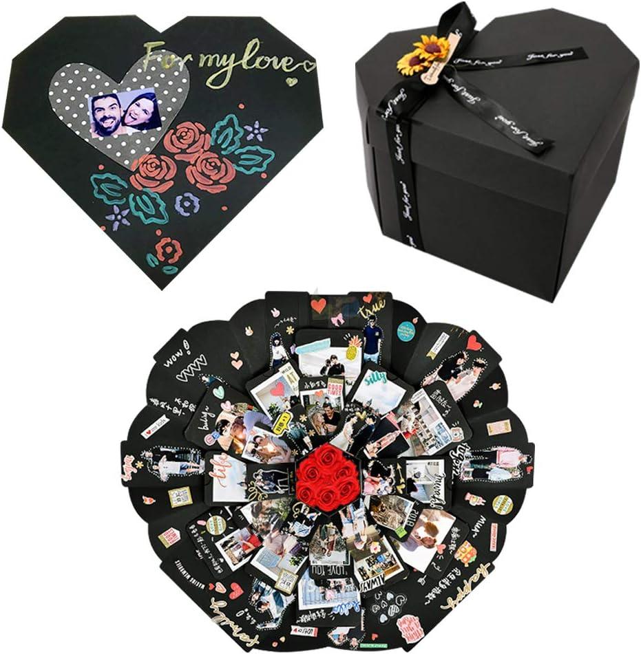 YILEEY Caja Sorpresa Regalo Forma de Corazón, San Valentin Regalos Originales para Hombre Mujer, Creative Álbum de Fotos de Scrapbooking Explosion Box, Regalos Dia de la Madre Aniversario Cumpleaños: Amazon.es: Hogar