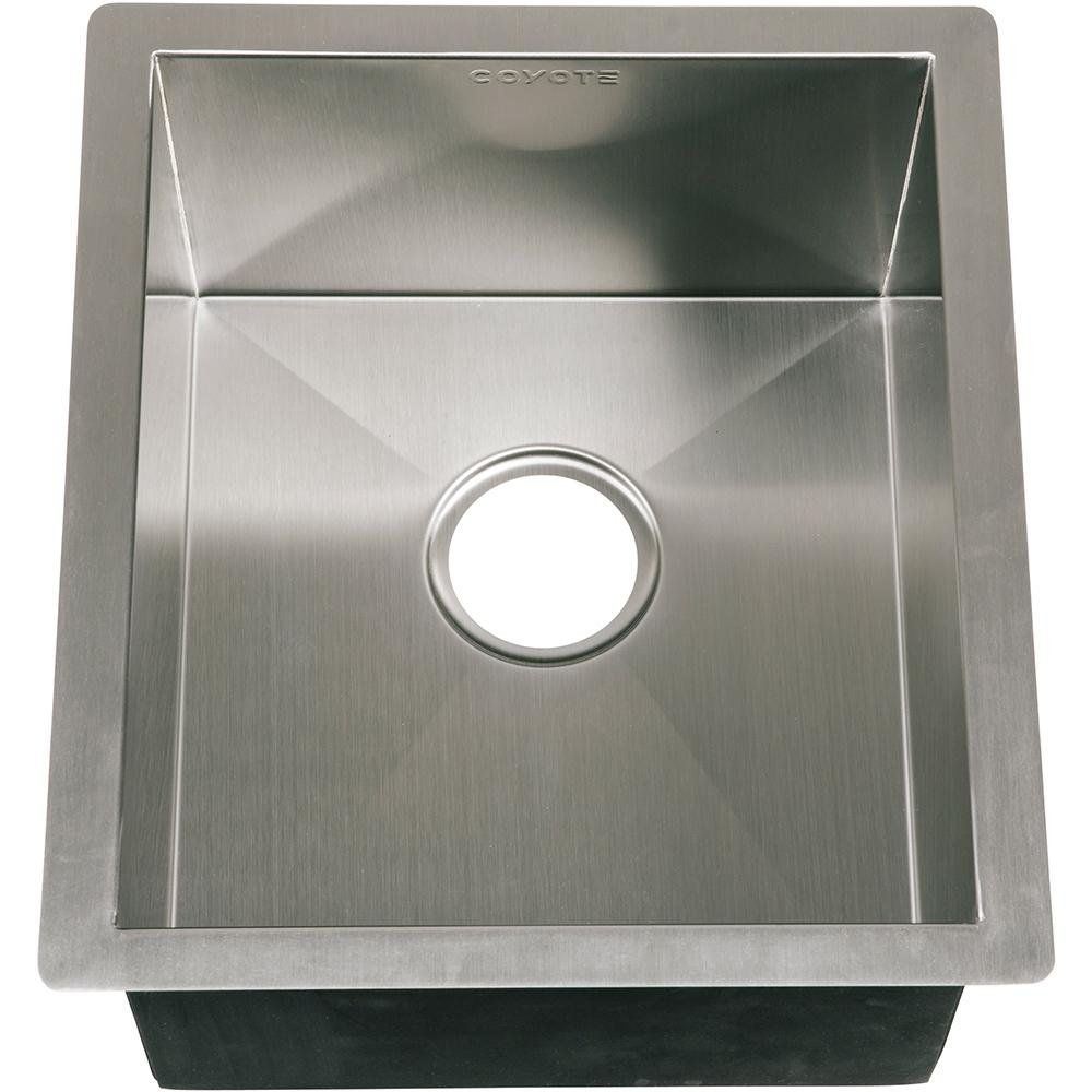 Coyote 16 X 18 Outdoor Rated Drop In Stainless Steel Sink With Drain Plug - C1sink1618 by Coyote (Image #2)