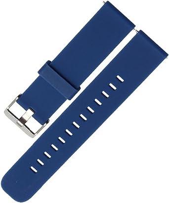 DL 18, 20, 22mm Bracelet Silicone Montre Band, Haute qualité Replacement Bande Bracelet Chaîne de Montre avec Fermoir en Métal Réglable pour Femme et