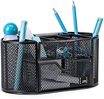 Mindspace Pen Holder with 8 Compartments Drawer (Black)