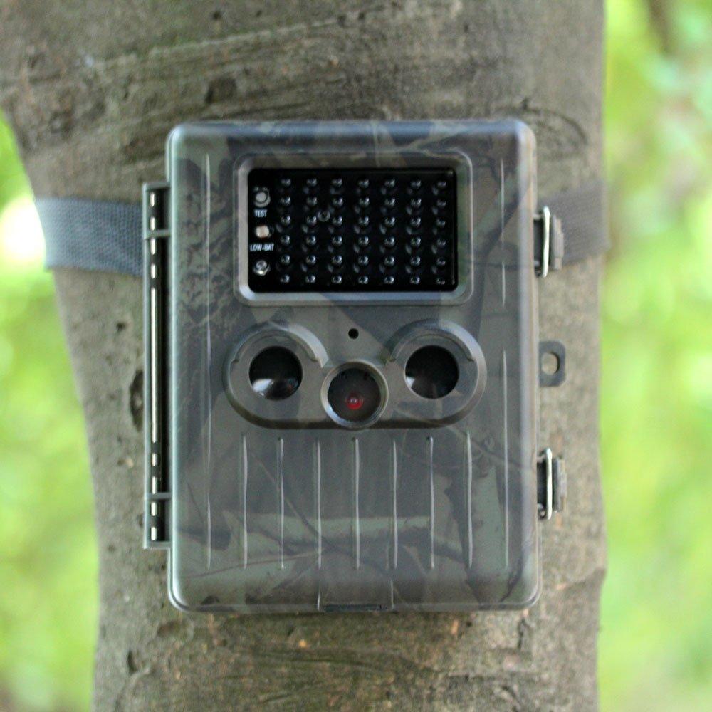 Docooler HT-002LIM Wildtier Jagd Kamera HD Digital Infrarot Pfadfindertum Spur Kamera MMS/EMAIL/SMTP/SMS IR LED Video Rekorder 12MP Regendicht Wiederaufladbar