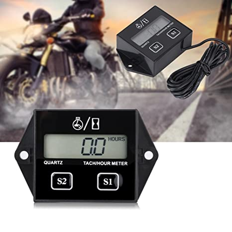 Amazon com: Anauto Inductive LCD Digital Tachometer Tach/Hour Meter